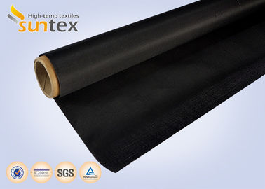 China Black Fire Resistant Fiberglass Fabric Heat Insulation Glass Fiber Roll distributor