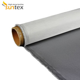 China Silicone Rubber Coated Fiberglass Cloth With Superior Water , Oil , And Heat Resistance factory