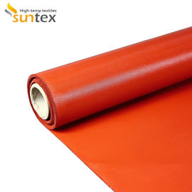 China High Temperature Resistant Fiberglass Fabrics Water And Oil Proof Silicone Coated Fiberglass Cloth distributor
