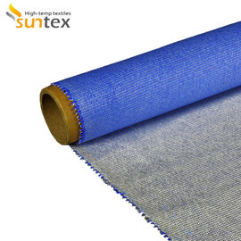 China Heat Insulation Silicone Coated Fiberglass Fabric For Fire / Smoke Curtain factory