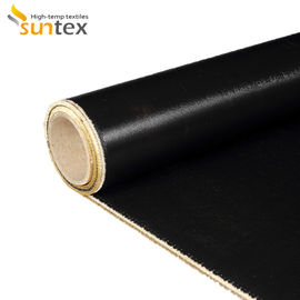 China Excellent Weathering Resistant Silicone Rubber Coated Glass Fiber Fabric Fireproof Cloth Blanket Roll distributor