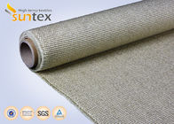 800C Vermiculite Coated High Temperature Fiberglass Cloth Heavy Duty Welding Protection