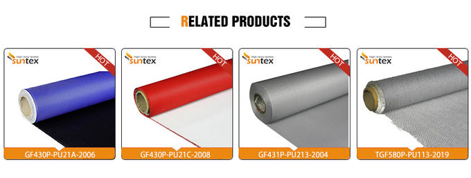 Hypalon Chemical Resistant Fiberglass Fabric Roll Weatherproof For Construction HVAC System