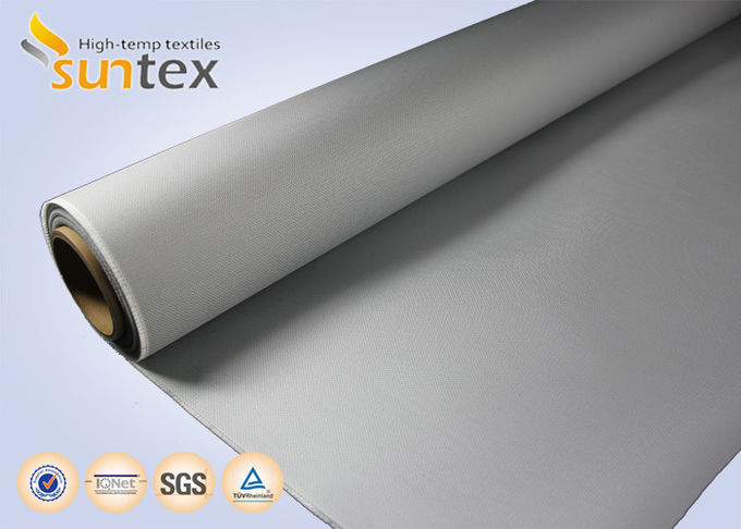 M0 Fire Proof PU Coated Fiberglass Fire Retardant Cloth 4H Satin For Flexible Expansion Joint