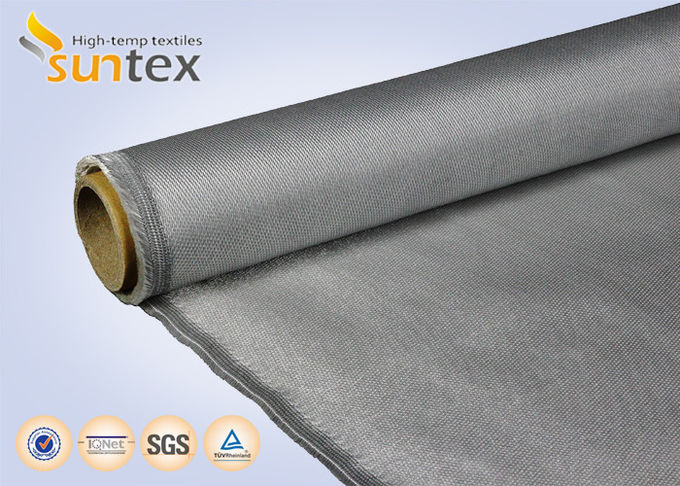 Stainless Steel Wire Reinforced Fiberglass Cloth With PU Coating 0.7mm For Fire Blanket Smoke Curtains