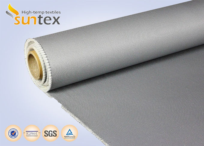 Heatproof Fabric PU Coated Fabric 0.7mm Glass Fiber Fire Blanket Material Smoke Curtains