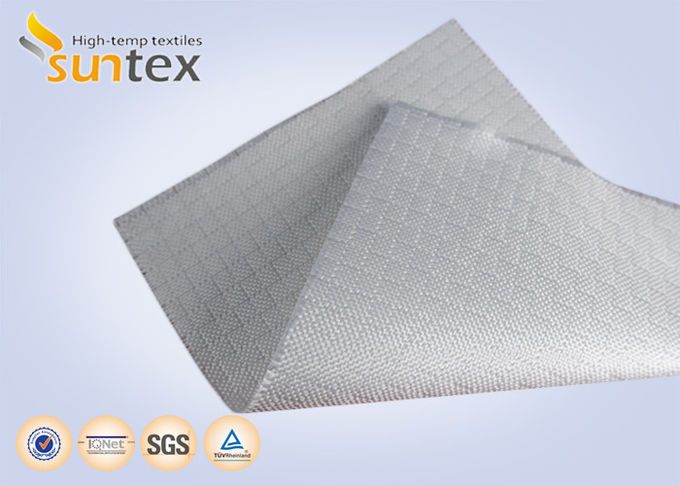 White Fire Resistant Glass Fibre Fabric  Roll For Construction Fire Curtain , Woven Fiberglass Cloth