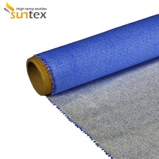 Heat Insulation Silicone Coated Fiberglass Fabric For Fire / Smoke Curtain